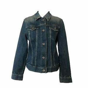 Gap Womens Jean Jacket Button Down Size Large